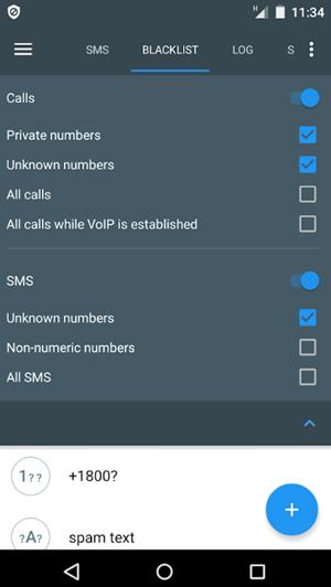 Calls Blacklist App